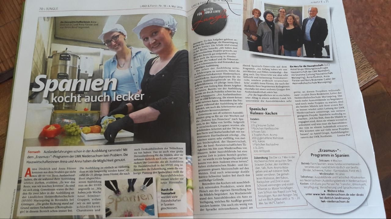 Un artículo en una revista alemana...